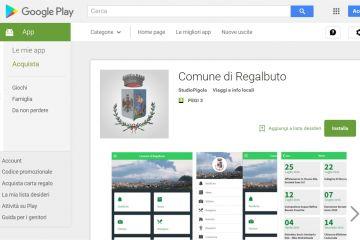 App iOS Android Comune di Regalbuto